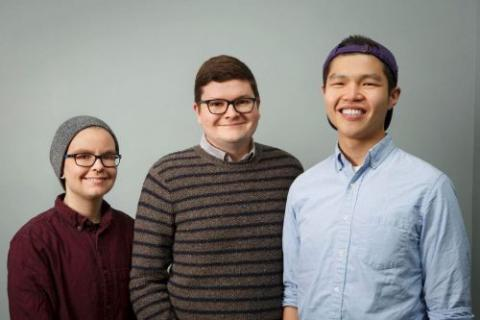 Photo of the three founders of oSTEM.